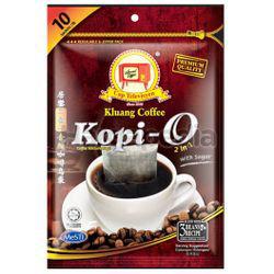 Kluang Black Coffee Kopi O 2in1 With Sugar 10x23gm