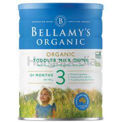 Bellamy's Organic Toddler Milk Stage 3 900gm