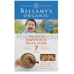 Bellamy's Organic Brown Rice Pasta Stars 200gm