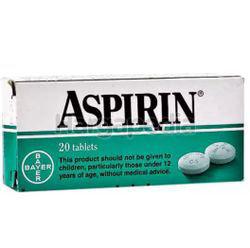 Bayer Aspirin 30x0.5gm