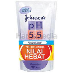 Johnson's pH5.5 2in1 Body Wash Refill 2x500ml