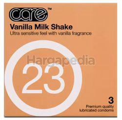 Care 23 Vanilla Milk Shake Condom 3s