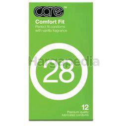 Care 28 Comfort Fit Condom 12s