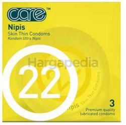 Care 22 Nipis Condom 3s