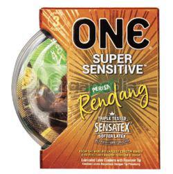 ONE Condoms Super Sensitive Perisa Rendang 3s