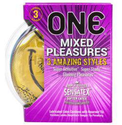 ONE Condoms Mixed Pleasures 3s