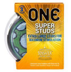 ONE Condoms Super Studs 3s