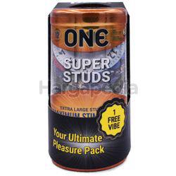 ONE Condoms Super Studs 12s + 1 Vibe