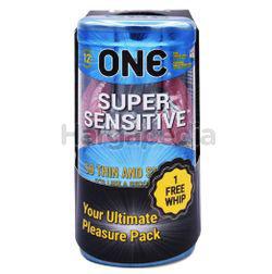 ONE Condoms Super Sensitive 12s + 1 Whip