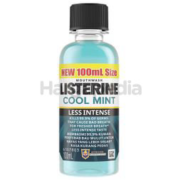 Listerine Cool Mint Less Intense Mouth Rinse 100ml