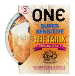 ONE Condoms Super Sensitive Teh Tarik Kurang Manis 3s