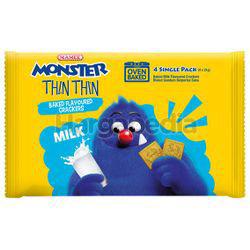 Mamee Monster Thin Thin Crackers Milk 4x21gm