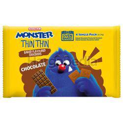 Mamee Monster Thin Thin Crackers Chocolate 4x21gm