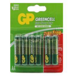 GP Greencell Extra Heavy Duty Battery 4AA FOC 2s