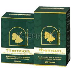 Thomson Activated Ginkgo 40mg 500s+30s