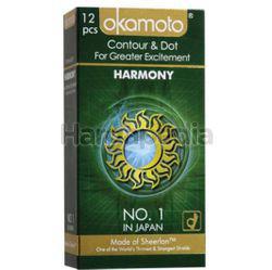Okamoto Harmony Contour  & Dot Condoms 12s