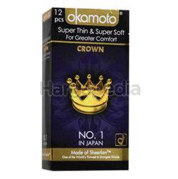 Okamoto Crown Super Thin & Super Soft Condoms 12s