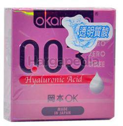 Okamoto 003 Hyaluronic Acid Condom 3s