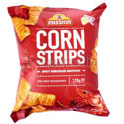 Mission Corn Strips Spicy SzeChuan Seafood 120gm