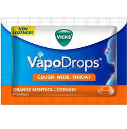Vicks VapoDrops Lozenges Orange Menthol 6s