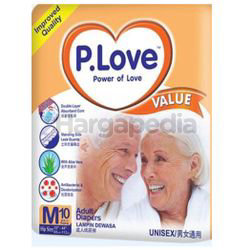 P.Love Value Adult Tape Diapers M10