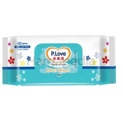 P.Love Adult Wipes 40s