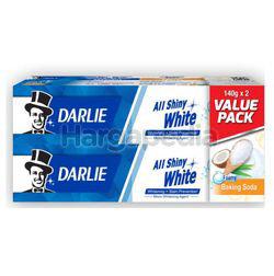Darlie All Shiny White Baking Soda Toothpaste 2x140gm