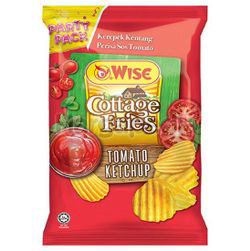 Wise Cottage Fries Potato Chips Tomato Ketchup 160gm