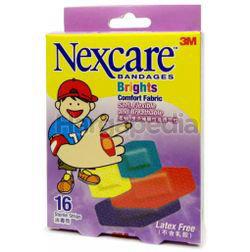 3M Nexcare Bandages Brights Comfort Fabric 16s