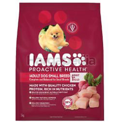 IAMS Dog Dry Food Adult Dog Small Breed Chicken 3kg