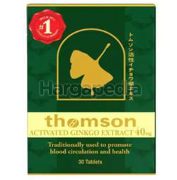 Thomson Activated Ginkgo 40mg 30s