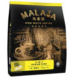 Malaya 4in1 Ipoh White Coffee Durian 12x30gm