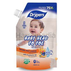 Drypers Baby Head to Toe Fruit Complex Refill 500ml