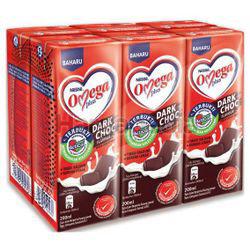Nestle Omega Plus UHT Milk Dark Choc 6x200ml