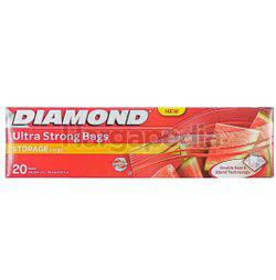 Diamond Zipper Bags Storage Large 20s