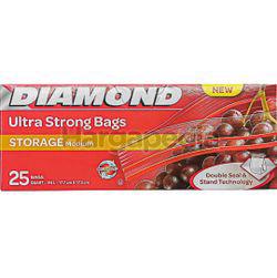 Diamond Zipper Bags Storage Medium 25s