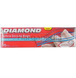 Diamond Zipper Bags Freezer Large 15s