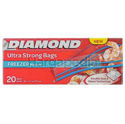 Diamond Zipper Bags Freezer Medium 20s