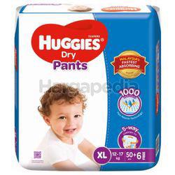 Huggies Dry Pants Mega Pack XL50+6