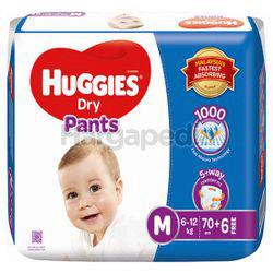 Huggies Dry Pants Mega Pack M70+10