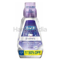 Oral-B 3D White Mouth Rinse 2x473ml