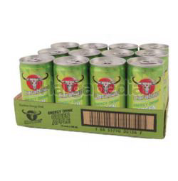 Carabao Carbonated Energy Drink Green Apple 12x180ml