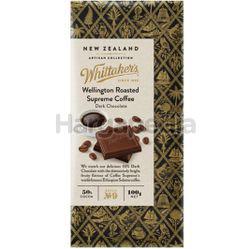 Whittaker's Wellington Roasted Supreme Coffee Chocolate 100gm