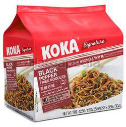 Koka Signature Instant Noodle Black Pepper Fried 5x85gm