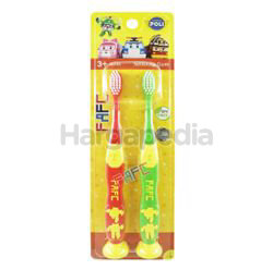 FAFC Kids Toothbrush Robocar Roy Helly Suction 2s