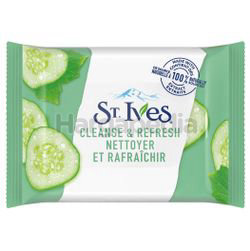 St Ives Cucumber Cleanse Wipes Refresh 25s