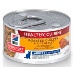 Hill's Science Diet Adult 7+ Cat Healthy Cuisine Roasted Chicken & Rice Medley 79gm