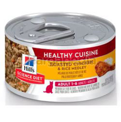 Hill's Science Diet Adult Cat Healthy Cuisine Roasted Chicken & Rice Medley 79gm