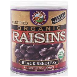 Country Farm Organic Black Seedless Raisins 300gm