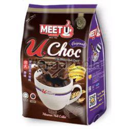 Meet U U Choc Chocolate Malt Drink Original 16x36gm